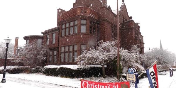 Christmas at barker mansion michigan city indiana 1