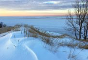 Indiana Dunes winter Hikes mount baldy