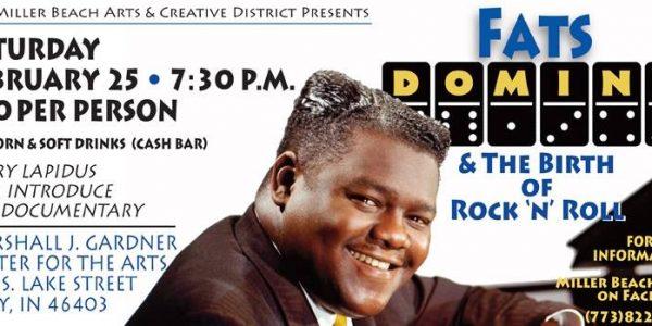 fats domino film screening at Miller Beach Creative arts district