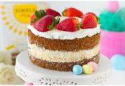 healthy easter coconut cake fruity dessert
