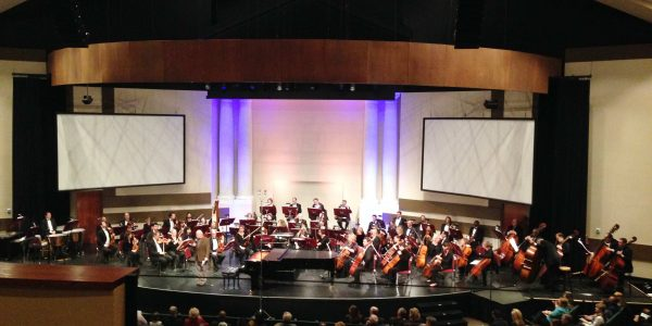 northwest indiana sypmhony orchestra at bethel church in crown point indiana