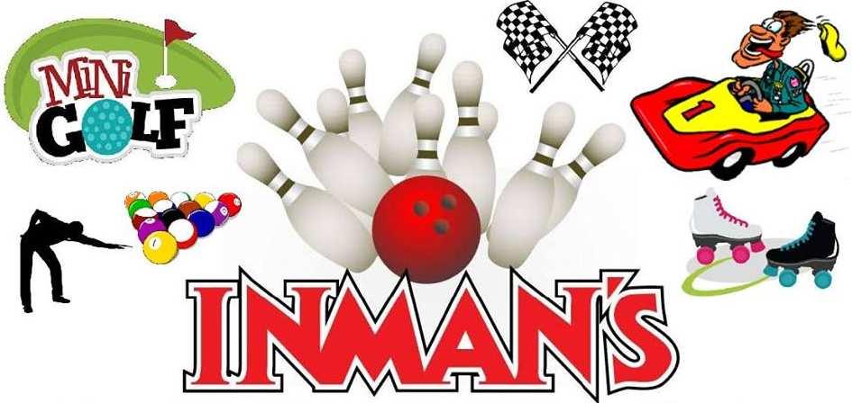 inmans bowling billiards arcade paddle boats go carts skating bounce houses valparaiso