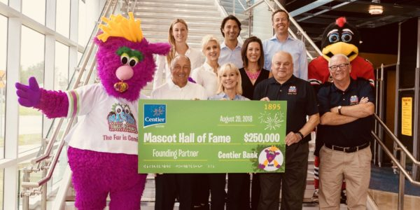 centier bank supports mascot hall of fame whiting indiana