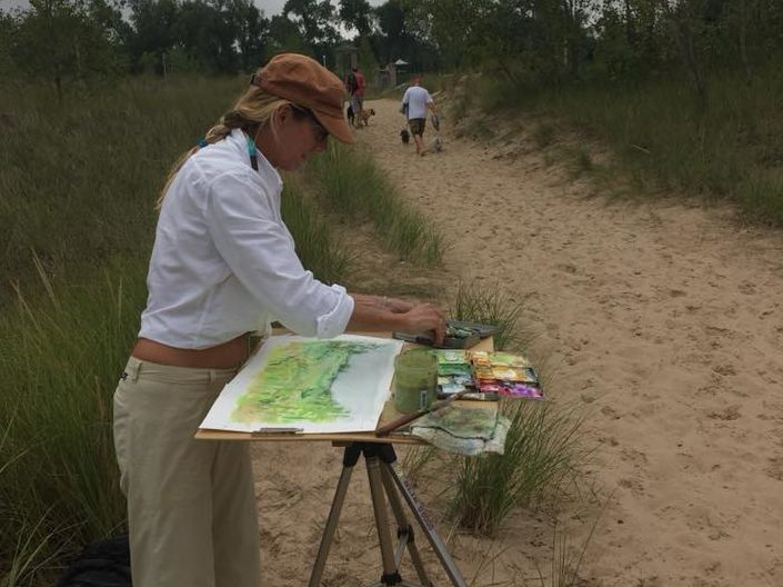 plein air paintings at indiana dunes miller beach creative district e1535733634797