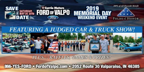 Currie Ford Valpo >> Folds of Honor Car Show - Valpo - PanoramaNOW ...