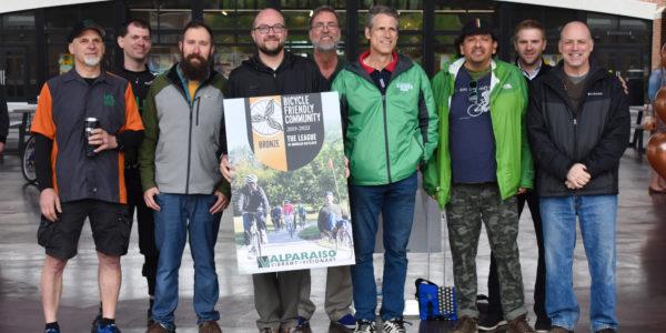 city of valparaiso wins bicycle friendly award