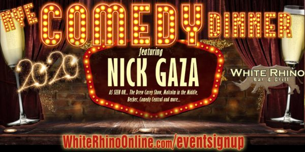comedy night new years eve at white rhino dyer indiana