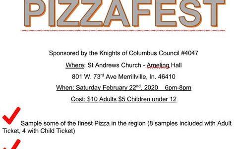 pizza fest merrillville indiana k of c fundraiser