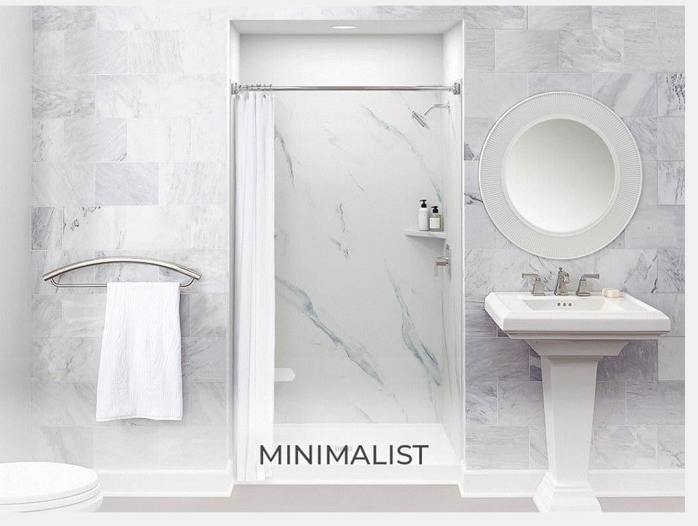 bathroom ideas minimalist marble remodeling interior design
