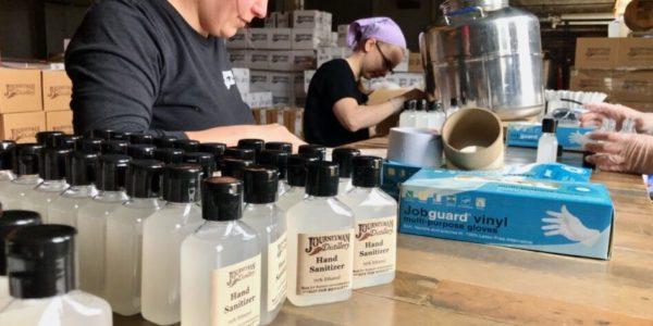 local breweries making hand sanitizer for coronavirus 18th street brewery 3 floyds journeyment distillery
