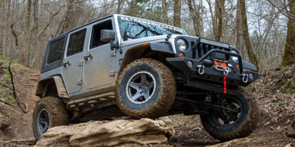 jeep wrangler showing off its flex