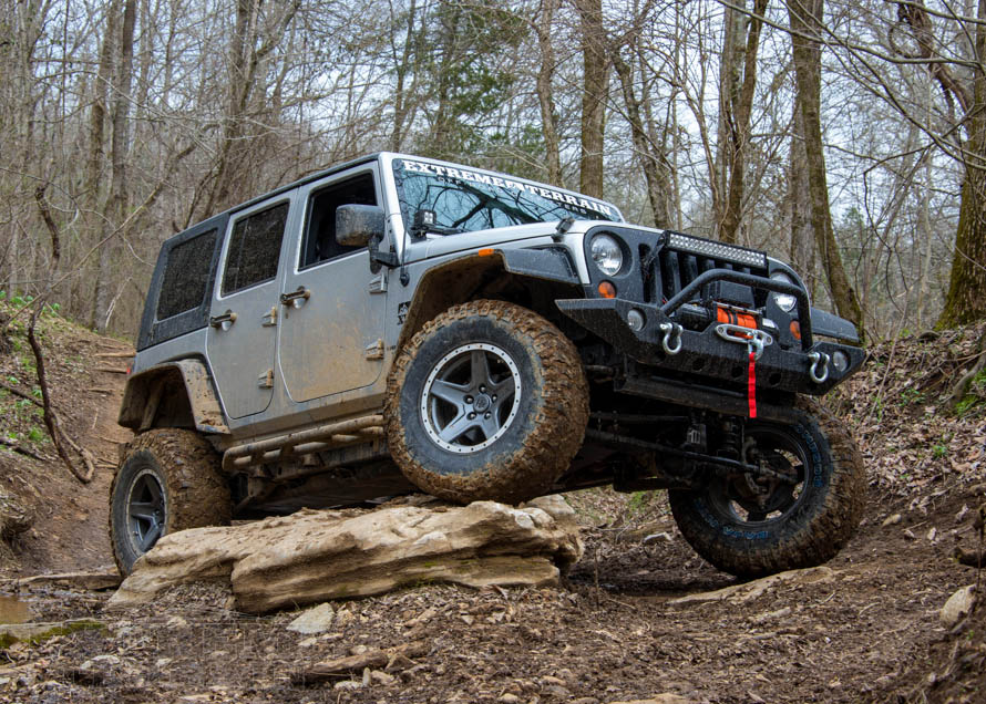 jeep wrangler showing off its