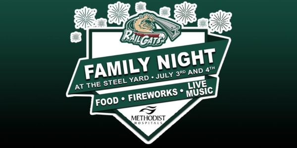 fireworks at the railcats stadium gary indiana hosted by methodist hospitals