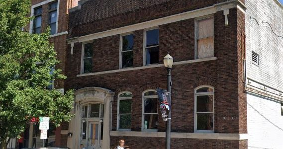 historic telephone building named LPCPL Exchange downtown Laporte indiana 2