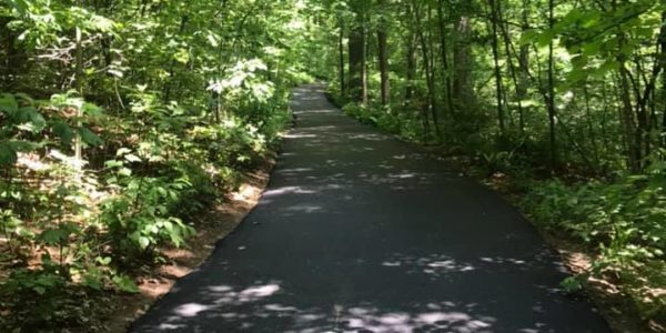 paved hiking biking trails at friendship international gardens michigan city indiana e1593184768332