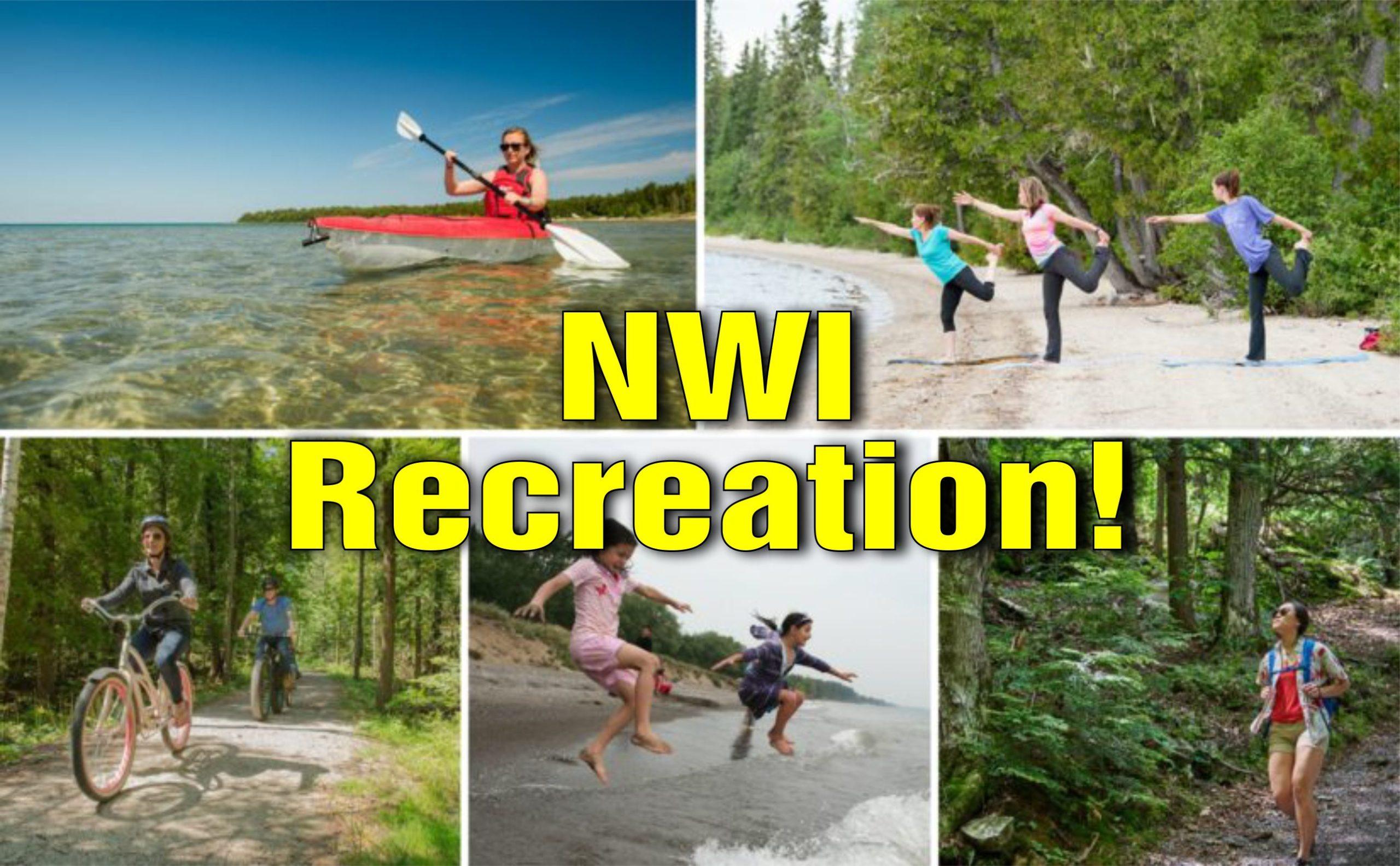 recreation in nwi hiking fishing camping biking swimming golfing birding scaled