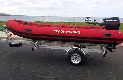 emergency boat added to Lake Michigan in Whiting Indiana