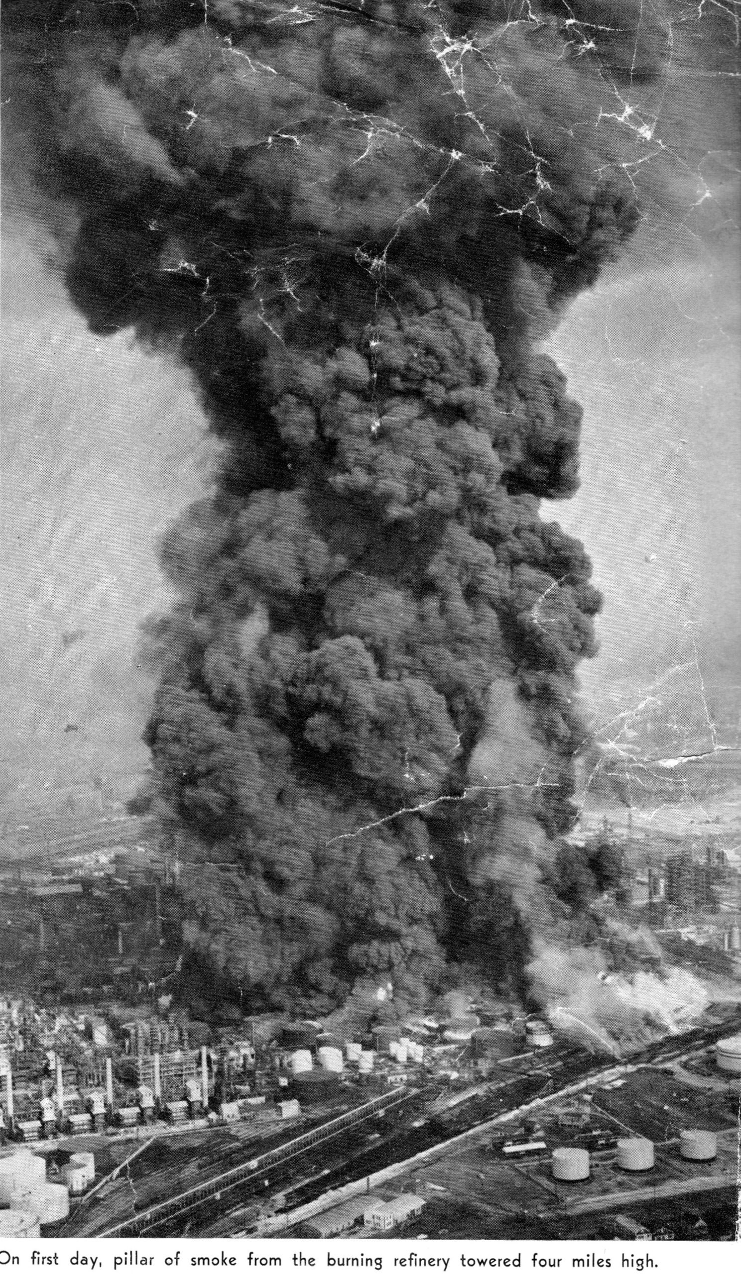 smoke giant standard oil fire scaled