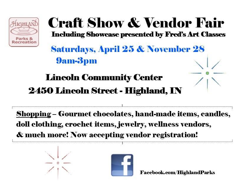 Highland Indiana Fall Craft Fair at Lincoln center