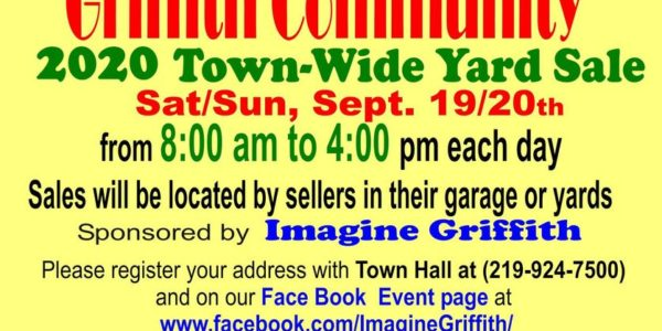 griffith indiana townwide garage sale 2020