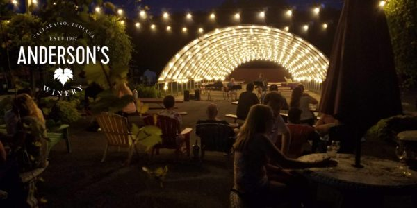 outdoor concert at andersons winery vineyard valparaiso indiana