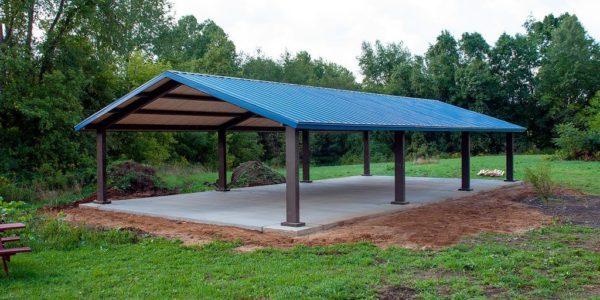 New pavilion at Lydick Bog Nature Preserve south bend inaiana