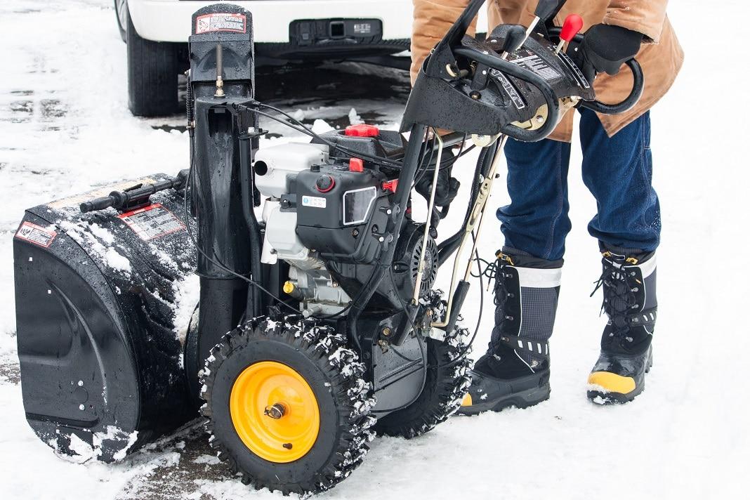 Snow thrower blower safety smaller