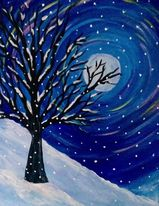 empty nest winter painting class griffith indiana