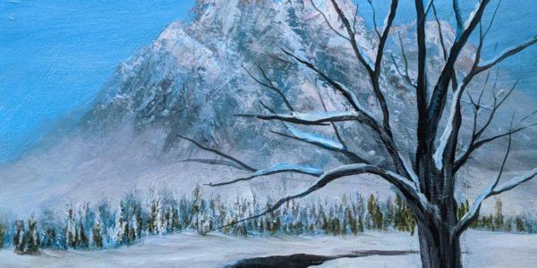 winter painting class at sunset hill park valpolife valparaiso indiana