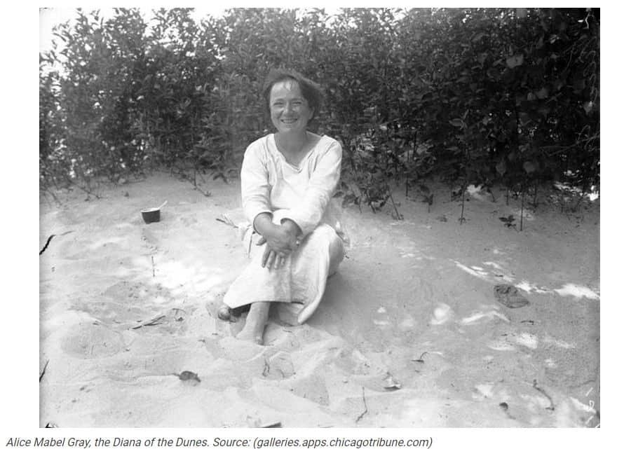 Diana of the Dunes gray indiana dunes