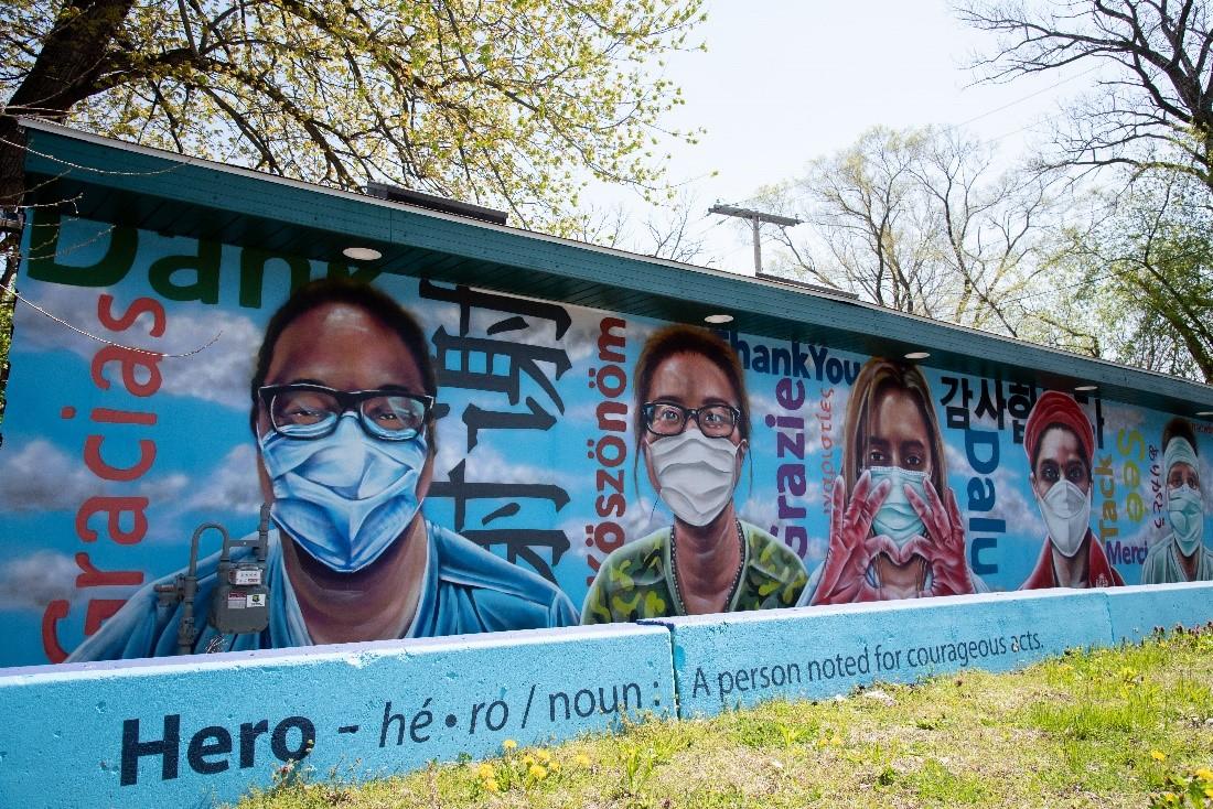 miller beach arts mural first fridays gary indiana frist responders