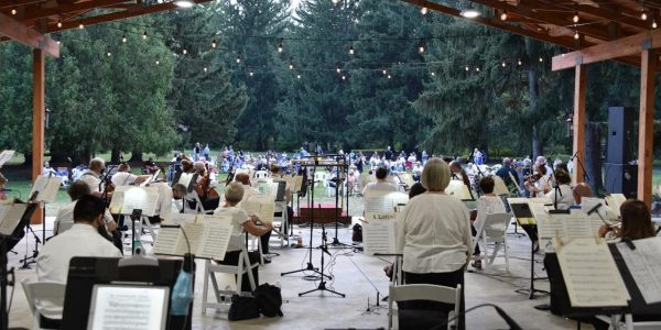 outdoor symphony concert at Friendship Botanic Gardens Michigan City LCSO symphony orchestra e1624462048482