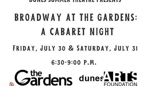 cabaret at friendship gardens with dunes summer theatre sophia byrd and andrew turner