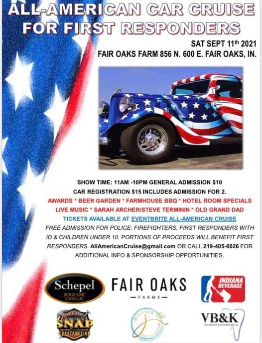fair oaks car show all american car cruise for first responders