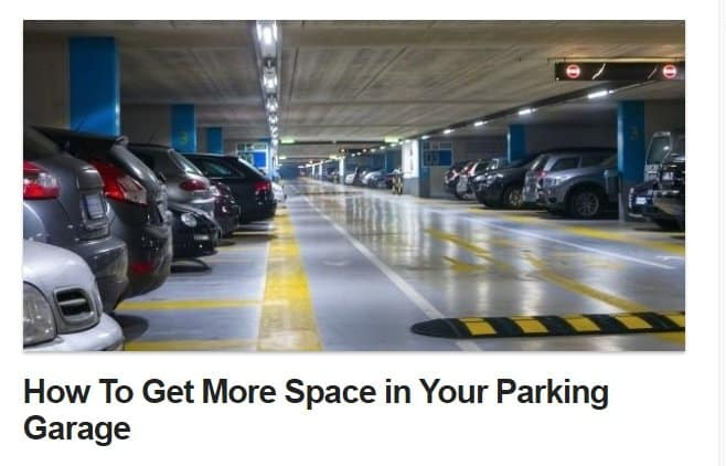 GET MORE space in your parking garage cars