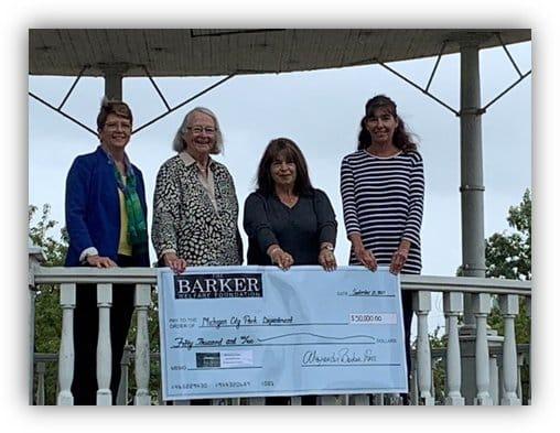 barker mansion donates 50000 for Park Bandstand